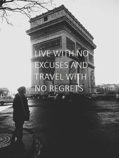 Live with no excuses and travel with no regrets #regretfree #teampronrg