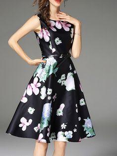 European Fashion, Floral Prints, Feminine, Slim, How To Wear, Black, Long Sleeve, Dresses, Women