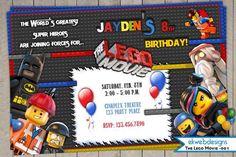 lego movie birthday party invitation