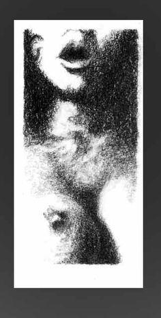 De la serie Fragmentos de una piel desnuda. Grafito sobre papel