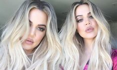 The reality star, 32, appeared to be tugging on her strand of her blonde hair, which was styled in its usual long, loose waves. Khloe also had on a slick of beige lipstick, smoky eyeshadow.