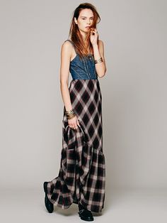 Free People Wild Coyote Plaid Dress at Free People Clothing Boutique