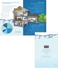 Drinking Water brochure spread for Minnesota Department of Health designed by The Design Company Human Services, Design Firms, Brochure Design, Drinking Water, Minnesota, Have Fun, Health, Health Care, Leaflet Design