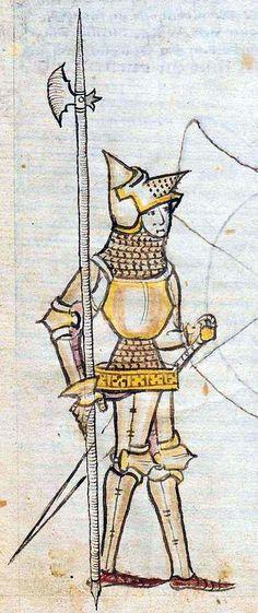 detail from ONB Han. Cod. 2915 Historia belli Troiani soluto sermone scripta, 1390-1400,  South, Germany