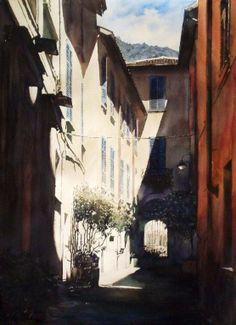 by Paul Dmoch Watercolor City, Watercolor Landscape, Watercolour Painting, Watercolors, Watercolor Architecture, Architecture Drawings, Monuments, Cityscape Art, City Landscape
