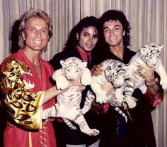 MJ with Sigfried and Roy