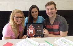 Congratulations to Sidney High School - a Red Cord Honor School for 2013-14! Student Government sponsors the school blood drives. Student chairman Olivia Seving, Elizabeth Barr & Alec Batton proudly accepted the award.