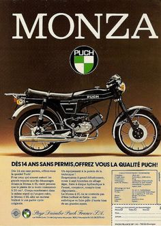 Puch Monza Motorcycle / Moped Ad