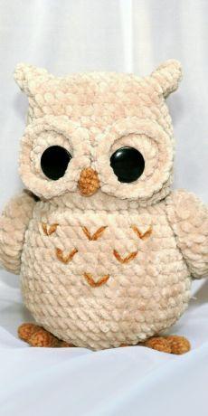 Owl Crochet Pattern Free, Crochet Owls, Cute Crochet, Crochet Crafts, Crochet Projects, Doll Patterns Free, Owl Patterns, Crochet Patterns Amigurumi, Amigurumi Doll