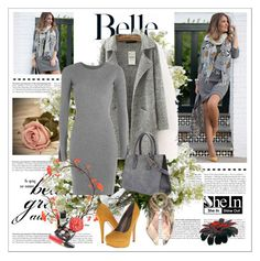 """""""Shein grey sweater coat"""" by narcisaaa ❤ liked on Polyvore featuring Alexander Wang, Valentino, Chanel, Michael Antonio, New Growth Designs, women's clothing, women's fashion, women, female and woman"""