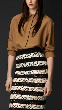 Burberry Prorsum Oversize Silk Shirt