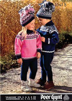 Skaugum, old model Jumper Knitting Pattern, Knitting Patterns, Knitting For Kids, Baby Knitting, Norwegian Knitting, Baby Barn, Fair Isle Knitting, Old Models, Vintage Knitting