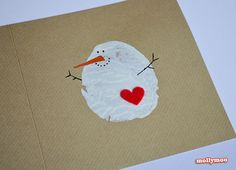 These cute potato stamp snowmen cards.