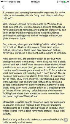Black pride vs white pride