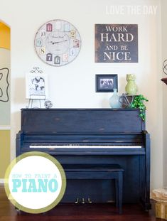 My Painted Piano with FolkArt Home Decor Chalk:: How To Paint A Piano!