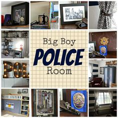 Police themed child's room