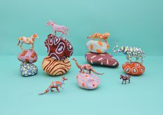 ROCKS & ANIMALS by Cocolia, via Behance