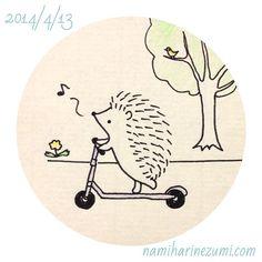 #ハリネズミ 116 #hedgehog #illustration #drawing #イラスト #ペン画