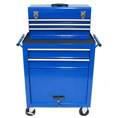 front view of excel international tb-2103 five drawer roller metal tool chest $166