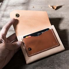 Overview: Design: Handmade Leather Mens Cool Short Wallet Card Holder Small Card Slim Wallets for MenIn Stock: Ready to Ship(2-4 days)Include: Only WalletCust