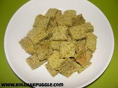 Pea and chicken dog treats