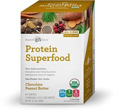 Amazing Grass Individual Serving Protein Superfood Peanut Butter Chocolate 10 Count -- Learn more by visiting the image link.