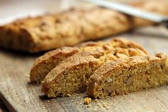 Cornmeal Biscotti. Easier than you think to make. Oh, and everything is better dipped in chocolate. Yum.
