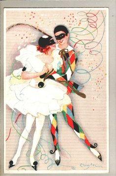 Art Sign s Chiostri Pierott Lady Art Deco Postcard   eBay