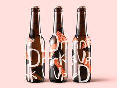 Drink Up bottle branding drink label design - Fresh Drinks Food Packaging Design, Beverage Packaging, Bottle Packaging, Coffee Packaging, Logo Design, Label Design, Package Design, Design Design, Graphic Design
