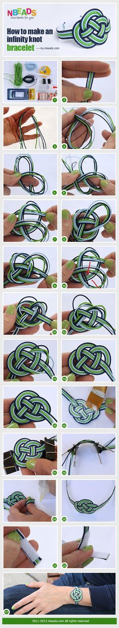 how to make an infinity knot bracelet, brazalete, nudo, infinito, regalo