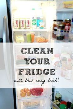 How to easily clean your fridge with a common household product. Check out the other great cleaning tips in this post, too!