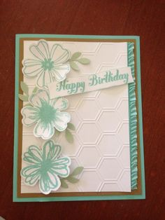 Flower Shop, Stampin' Up stamp set.