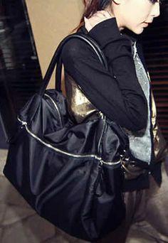 Large Casual Solid Color Double Handle Purse Handbag Cross Body Shoulder Bag