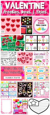 LOTS of freebies, ideas, and resources for the Valentine season! Mainly math and a few in Spanish.