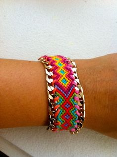 DIY bracelet. With a bling