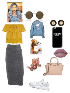 """S E L F  M A D E"" by qveennnnnn on Polyvore featuring Obakki, Madewell, Lime Crime, Chanel, NIKE, Michael Kors, Illesteva, Casetify and High Heels Suicide"
