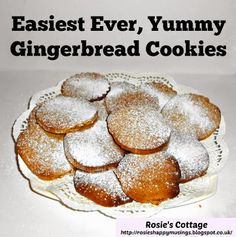 Rosie's Cottage: Easiest Ever Yummy Gingerbread Cookies