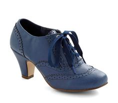 Adorable Blue Oxford Heels at Modcloth