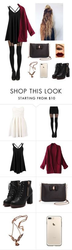 """""""Catch me, I am falling for you"""" by firebreatherr ❤ liked on Polyvore featuring TFNC, Boohoo, WithChic, Ted Baker and Hjälte Jewellery"""