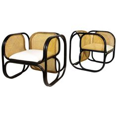 Pair of Jan Bočan Armchairs, circa 1970, Czech Republic | See more antique and modern Armchairs at https://www.1stdibs.com/furniture/seating/armchairs