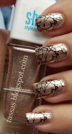 Black and Gold Crackle