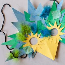 This Wild Animals mask activity is so simple, kids of all ages can do it on their own!