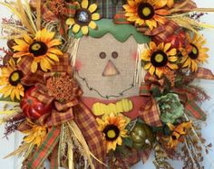 Autumn Mesh Owl Wreath by WilliamsFloral on Etsy