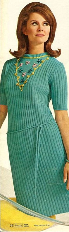 Knit Dress from a 1966 Sears catalog