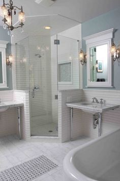 Style of shower and walls