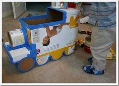 DIY Train costume - step by step via pictures