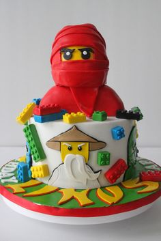 This was done for HS who got us to do a cake for her little boy last year. This year, the birthday boy requested for Ninjago as his theme, ...
