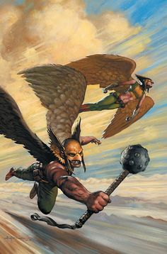 Hawkman and Hawkgirl by Christopher Moeller