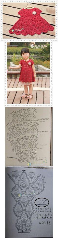 "Vestido de Niña - Crochet stitch crochet pattern dress kids [   "" Tutorial for Crochet, Knitting."" ] #<br/> # #Dress #Girl,<br/> # #Girls #Dresses,<br/> # #Children,<br/> # #Kids,<br/> # #Pattern #Dress,<br/> # #Crochet #Pattern,<br/> # #Cute #Crochet,<br/> # #Crochet #Baby,<br/> # #Crochet #Stitch<br/>"