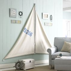 ⚓♡salt air⊰⛵ .What a fabulous idea! via Completely Coastal & joann crafts